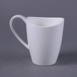 Granvela Coffee Cups Coffee Mugs Pure Bone China Moon Shape Designed Artworks