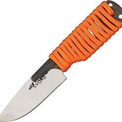 Svord Edc Hi Fixed Knife, Brown Leather Belt Sheath, Orange Paracord Wrapped Handle Edcl