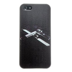 Pistol On Knife Pattern Anti-Scratch Matte Pc Hard Case For Iphone 5/5S