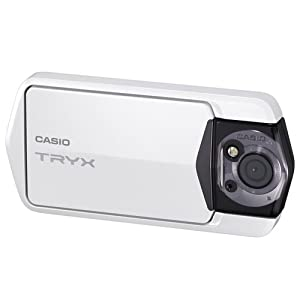 Casio TRYX Digital Camera with Full 1080p HD Video Capture and 3-Inch Touch Screen LCD (White)