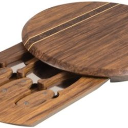 Picnic Time Pressato Bamboo Cheese Board With Tools
