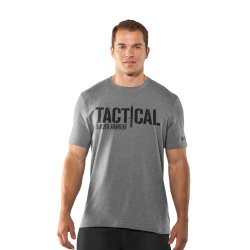 Under Armour Men'S Knife Charged Cotton® T-Shirt 3Xl True Gray Heather