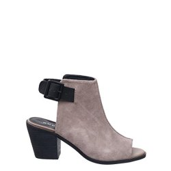 Kelsi Dagger Brooklyn Keira Cutout Thick Sandal Bootie - Taupe/Black, 10