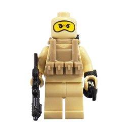 U.S. Navy Seal (Tan Balaclava) - Minibigs Custom Minifigure