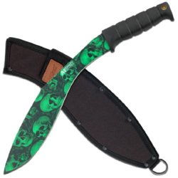 Mtech Usa Mt-537Gn Kukri Knife, 18-Inch, Green Skull Camouflage