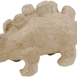"Paper Mache Figurine 4.5""-Stegosaurus *** Product Description: Paper Mache Figurine 4.5""-Stegosaurusdecopatch-Paper Mache Figurine. This Figure Is Fun For Decoration And Play. It Can Be Painted And Decorated How You Want To. This Package Contains ***"