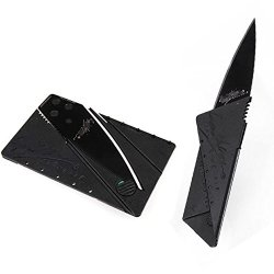 1Pcs Black Blade Sharp Handy Pocket Card Shape Safety Folding Camping Sport Knife Portable Outdoor Hot