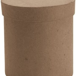Dcc Paper Mache Tall Round Box, 3 By 3 By 3-Inch