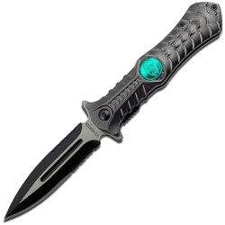 Z Hunter Zb-004Gy Spring Assisted Folding Knife, 4.5-Inch