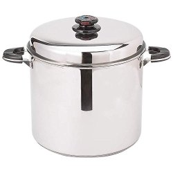 New Large 24 Qt Stainless Steel Stock Pot Deep Steamer Basket Cover Lid Kettle