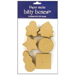 Paper Mache Box Bitty Christmas 6Pc By Craft Pedlars