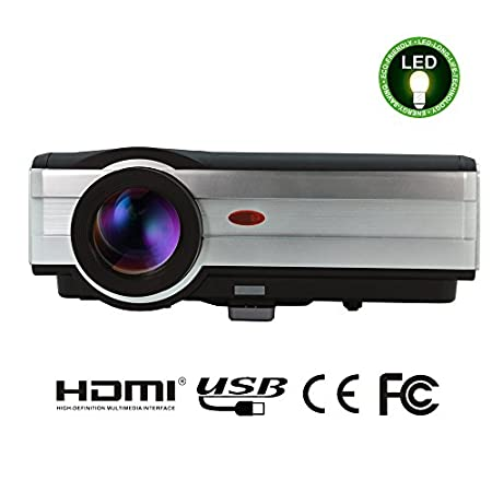EUG X89 LCD projector is the latest projector, it can projector large size picture in short distance. Besides it with 3000 Lumens, 160W LED lamp above 50,000 hours, one 10W Built-in Speaker, with high quality acoustics. It with high cost performanc...