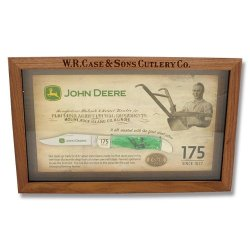 Case John Deere 175Th Anniversary Folding Hunter W/Walnut Shadow Box