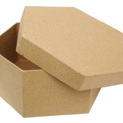 Paper Mache Hexagon Box 7 1/2 In. By Craft Pedlars