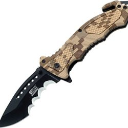 Mtech Usa Xtreme Mx-A800Dm Spring Assist Knife, 4.5-Inch Closed