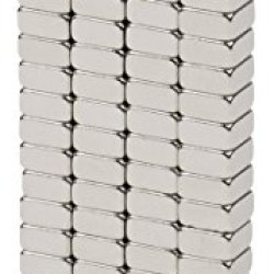 """Bykes 80 Neodymium Magnets Super Strong Rare Earth Magnets Refrigerator Magnets - 1/8"""" X 1/8"""" X 1/16"""" Thick Square N48"""