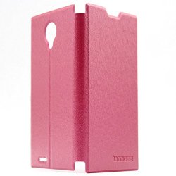 Doogee Dg550 Flip Leather Case Super-Thin Slim Stand Cover High Quality Pu Pouch For Doogee Dagger Dg550 Mtk6592 (Pink)
