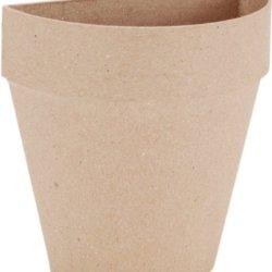 Dcc Paper Mache Half Flower Pot, 4-Inch