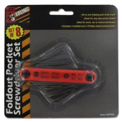 Sterling - Fold-Out Pocket Screwdriver With Eight Screw Heads ( Case Of 48 )