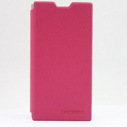 Doogee Dg550 Leather Case High Quality Flip Pu Leather Stand Cover Pouch For Doogee Dagger Dg550 Mtk6592 (Rose)