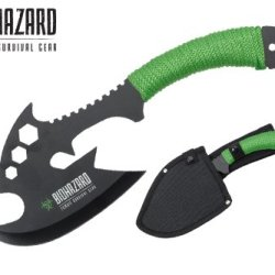 "Biohazard 12"" Full Tang Zombie Survival Hunting Machete Axe"