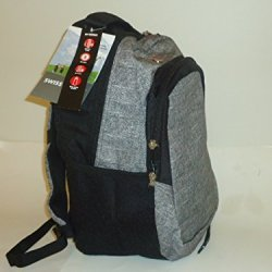 Swiss Gear Swissgear School Backpack Book Bag Black Grey