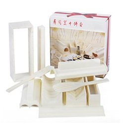 Plastic Diy Kitchen Tool Japanese Sushi Making Kit Set Rice Ball Roll Easy Sushi Maker Mold With Different Size Mould Rice Paddle Knife (Set Of 10) White