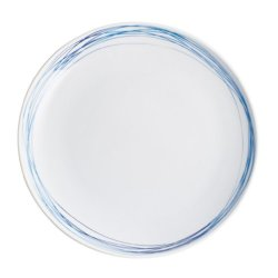 Kahla Five Senses Dining Plate 10-3/4 Inches, Whirl Blue Turquois Color, 1 Piece