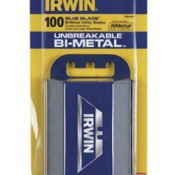 Irwin Utility Knife Blades Blue Card Of 100