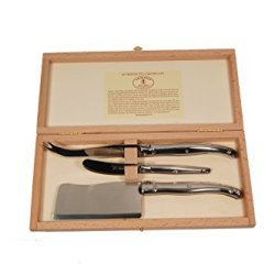 Jean Dubost 3-Piece Cheese Set Stainless Steel