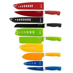 Wolfgang Puck Wp10Nsct13 Bistro Elite 10-Piece Nonstick Cutlery Set W/ Sheaths