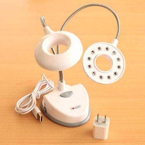 植物育成用LEDツインライト・ホワイト[ACアダプター付][室内植物を元気に]