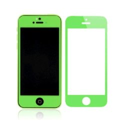 Daswise Colorful Ultra Clear 0.3 Mm Tempered Glass Screen Protector For Apple Iphone 5C /5/5S (Five Colors) (Green)
