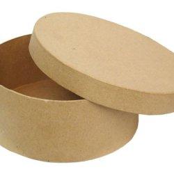 Paper Mache Round Box 7 1/2 In. By Craft Pedlars