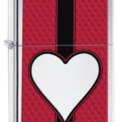 Zippo Chrome Heart Pocket Lighter