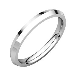 02.50 Mm Knife Edge Comfort-Fit Wedding Band Ring In Platinum ( Size 6 )