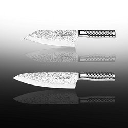 Artaste 59069 Hand-Hammered Finish Chef'S Knife Set, 6.5-Inch And 8-Inch