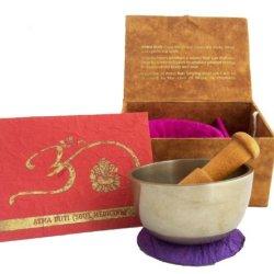 Tibetan Singing Bowl In Handmade Paper Ganesh Gift Box With Gift Card