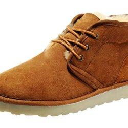 Rock Me Fur Sturdy Heel Knitting Lace Up Men Ankle Boots Integr I(8 D(M) Us, Chestnut)