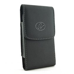 Vertical Leather Belt Clip Case Cover Pouch Holster For Blackberry Z10 & Surfboard & London & Stl100-4 * Magnetic Closure