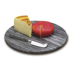 Gorgeous Grey Marble Cheese Board & Knife By Rsvp