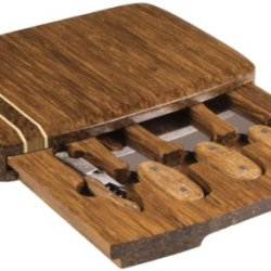 Picnic Time Verano Bamboo Cheese Board With Tools
