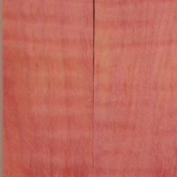"Maple Curly Stabilized Pink 2 Pc Knife Scale 3/16""X1 1/2""X5"" Nk5"