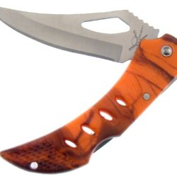"Frost Cutlery Orange Camo Tactical Folder 4"" Knife"
