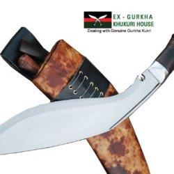 "Genuine Gurkha Full Tang Hand Forged Blade Khukri Knife - 13"" Blade World War I Historic Kukri - Handmade By Egkh In Nepal Zombie Apocalypse Chopper"