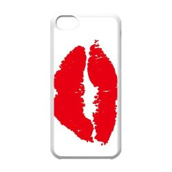 Diy Personalized New Custom Cute Cartoon Sexy Red Kiss Lips Lipstick Pattern Design Cell Phone Case Cover For Apple Iphone 5C Case Hard Plastic Mobile Phone Case Protective Shell
