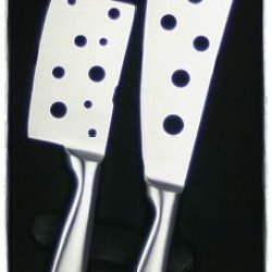 Prodyne Long Stainless Steel Cheese Knives, Set Of 2