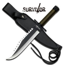 New 13In Rambo Style Survival Knife Hk761