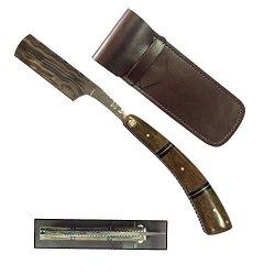Mickey Straight Razors Damascus Steel Blade Bone Handle