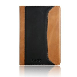 iPad-Air-2-Case-KVAGO-Premium-Genuine-Leather-Case-with-Hand-Strap-Auto-Sleep-Wake-Stand-Flip-Cover-Protective-Folio-Case-for-Apple-iPad-Air-2-2014-Edition-iPad-6th-Generation-Real-Leather-Smart-Cover